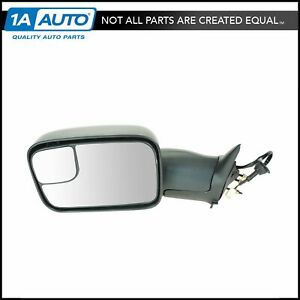 Mirror Power Towing Heated Flip Up W Bracket Lh Driver For Dodge Ram Pickup