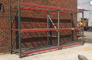 Used Teardrop Pallet Rack Shelving Racking Channel Scaffolding 5 Sections