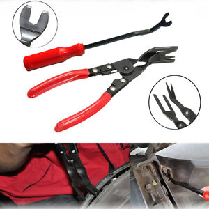 2pcs Universal Auto Car Door Panel Trim Clip Removal Upholstery Remove Pry Tools