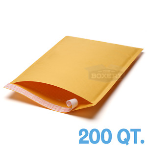 200 4 9 5 X 14 5 Kraft Bubble Padded Envelopes Mailers From The Boxery