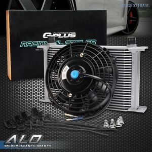 7 Cooling Fan Universal 25 Row An 10 Engine Transmission Oil Cooler Kit
