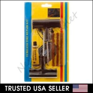 6pc Tubeless Flat Car Motorcycle Tire Repair Kit Tool Split Needle Rubber Rasp