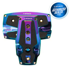 Nrg Sport Pedals Neo Chrome With Black Rubber Inserts Auto Pdl 250mc