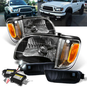 For 8000k Slim Xenon Hid Kit 01 04 Toyota Tacoma Black Headlights Lamp Pair