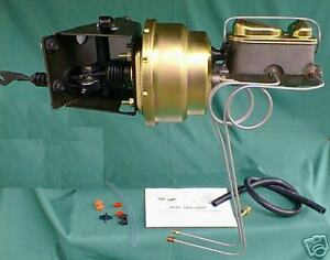 1976 77 Early Ford Bronco Power Brake Booster Kit no modify Fit dual 8 Booster