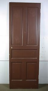 Antique Vintage 5 Panel Interior Door 79 1 4 X 27 3 4 X 1 1 8 C5