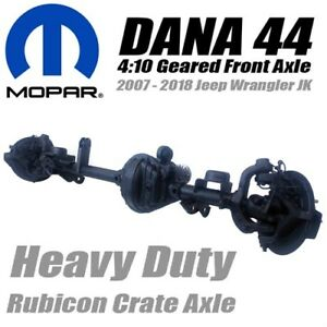 Mopar Performance Jeep Jk Dana 44 Front Rubicon Crate Axle W 4 10 Gear Ratio