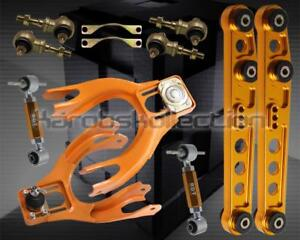 Gold Front Rear Camber Arm Kit Lower Control Arm Kit Honda Del Sol 93 97 Si