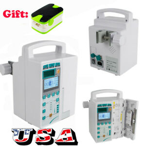 Us Infusion Pump Iv Fluid Equipment Audible Visual Alarm Lcd Monitor Oximeter
