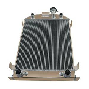 Upgrade 4 Rows Cores Aluminum Radiator For 1932 Ford 32 Stock Height Flathead V8