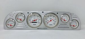 1957 1958 1959 1960 Ford Truck 6 Gauge Dash Cluster Metric White