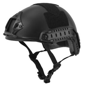 CA-739B: Lancer Tactical  Fast MICH Ballistic Type Airsoft Helmet Basic - Black