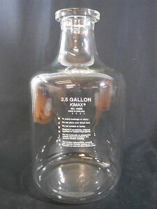 Kimble Kimax Carboy Style Glass Solution Bottle 2 5 Gal 9 5l 12 Neck 14950 25