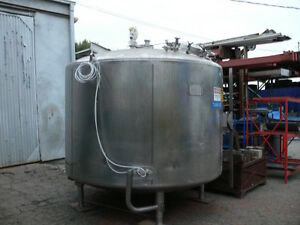 Mueller 1500 Gallon Stainless Steel Jacketed Tank W Impeller No Motor