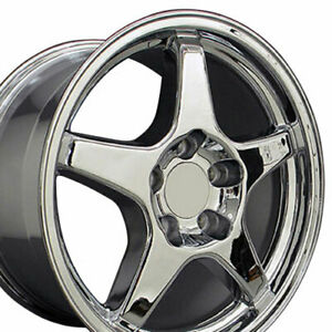 17x9 5 Chrome C4 Corvette Zr1 Style Wheels Set Of 4 Rims Fit Camaro Firebird