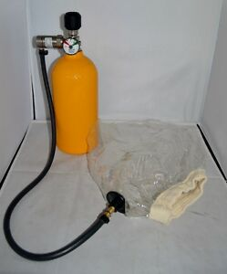 North Emergency Escape Breathing Apparatus 5 Minute Alluminum Cylinder used