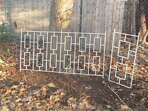 Price Reduced Vintage Mid Century Modern Iron Architectural Railing 2 Pieces