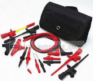 4mm Banana Plug Electronic Test Lead Automotive Multimeter Meter Test Probe Kit