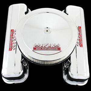 Chrome Tall Valve Covers And Air Cleaner Combo Fits Big Block Chevy 454 Engines