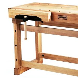 Sjobergs 33246 1500 Elite Woodworkers Beech Workbench With Two Large Vices