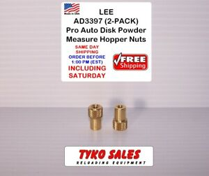 AD3397 * LEE BRASS NUT for AUTO DISK HOPPER * QTY 2