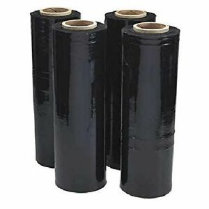 Shrink Wrap Roll 4 Black Hand Pallet Plastic Stretch Film 18 wx1500 Protect Fit