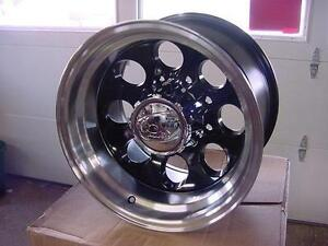 8 Lug 16 X 10 Black Ion Wheels Chevy Gmc Dodge 171 Baja Mickey Style