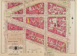 1917 Washington D C Nw Armory Square D St To The Mall 3rd To 7th St Atlas Map