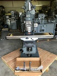 Bridgeport Milling Machine With 42 Table 2hp Vari Speed Head 1 Year Warranty