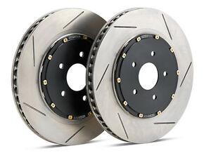 Stoptech 2016 2017 Ford Focus Rs 2 3l Front 2 piece Slotted Aero Brake Rotors