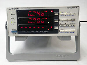 Yokogawa Wt200 Digital Power Meter 0 5 Hz To 100 Khz 253421 d