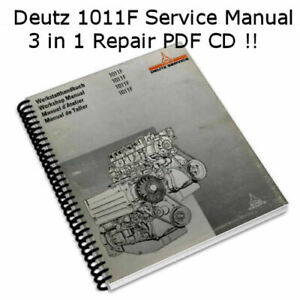 Deutz 1011f Engine Manual Tractor Shop Repair Service Manual pdf Cd nice