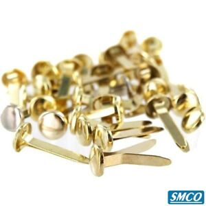 Split Pins Butterfly Clip 19mm Quality Brass Plated Paper Fasteners By Smco
