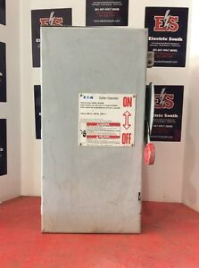 Cutler Hammer Eaton Safety Switch Dh363frk 100 Amp 600 Volt Fusible 3r 3 Pole