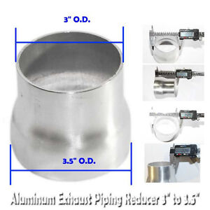 Universal Piping Aluminum Exhaust Reducer 3 5 O D To 3 O D 2 9 Length