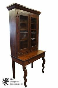 Mitchell Rammelsberg Victorian Butlers Secretary Writing Desk And Bookcase 86