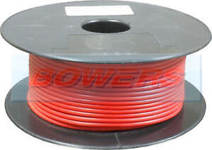 30m Red Thin Wall Single Core Cable Wire 50a Amp 84 0 30 6mm Auto Car Marine