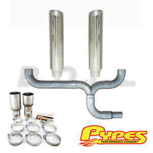 Pypes Ford 7 3l Power Stroke Super Duty Diesel Polished Dual 7 Stacks Kit