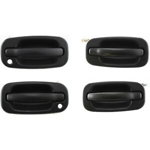 Exterior Door Handle For 2004 2006 Chevrolet Silverado 1500 Set Of 4 W Keyhole