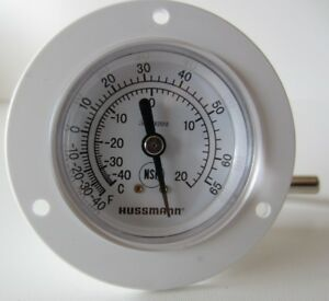 Hussmann 0443312 Thermometer 2 Dial White Temperature Gauge New