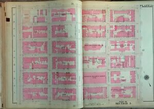 1909 Ps 76 7th Regiment Armory 25th Precinct Lenox Hill Manhattan Copy Atlas Map
