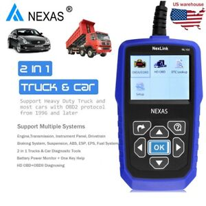 Nexas Nl102 Obd Obd2 Heavy Truck Diesel Abs Eps Esp Automatic Diagnostic Scanner
