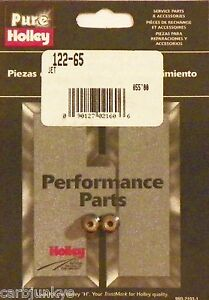 Holley Carburetor Main Jet 65 1 4 32 Thread 2 Pk 122 65 Pure Holley Perf Product