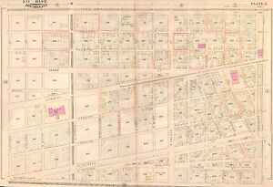 1883 New Orleans Louisiana Old Marine Hospital Canal St Julia Street Atlas Map