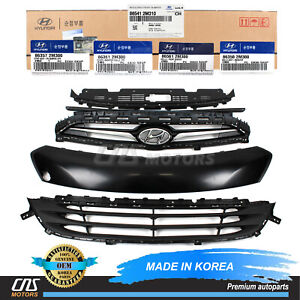 Genuine Front Grille Set 5 Parts For 13 16 Hyundai Genesis Coupe 863502m300