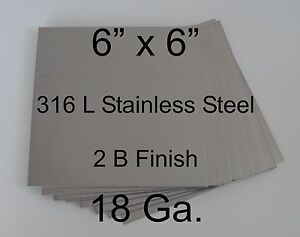 15 Pcs 316l 18 Ga 6 X 6 Stainless Steel Plate For Hho Cell