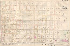 1883 Bywater New Orleans Louisiana Macarty Square Louisa St Sister St Atlas Map