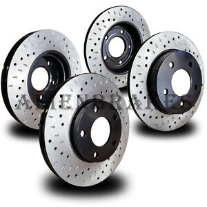 Lan012s Land Rover Lr2 2013 15 Brake Rotors Cross Drill Dimple Slots