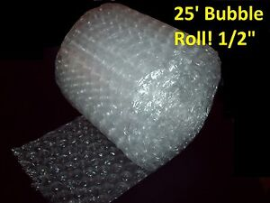 25 Foot Large Bubble Wrap Roll 12 Wide 1 2 Bubbles Perforated Every Foot