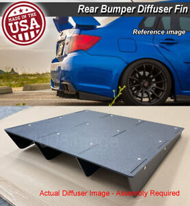 22 X 21 Abs Universal Rear Bumper 4 Fins Diffuser Fin Black Canards For Dodge